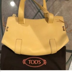 🌼TOD'S 🌼Yellow Leather Satchel